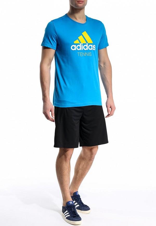 Футболка с надписями Adidas Performance (Адидас Перфоманс) S16833: изображение 3