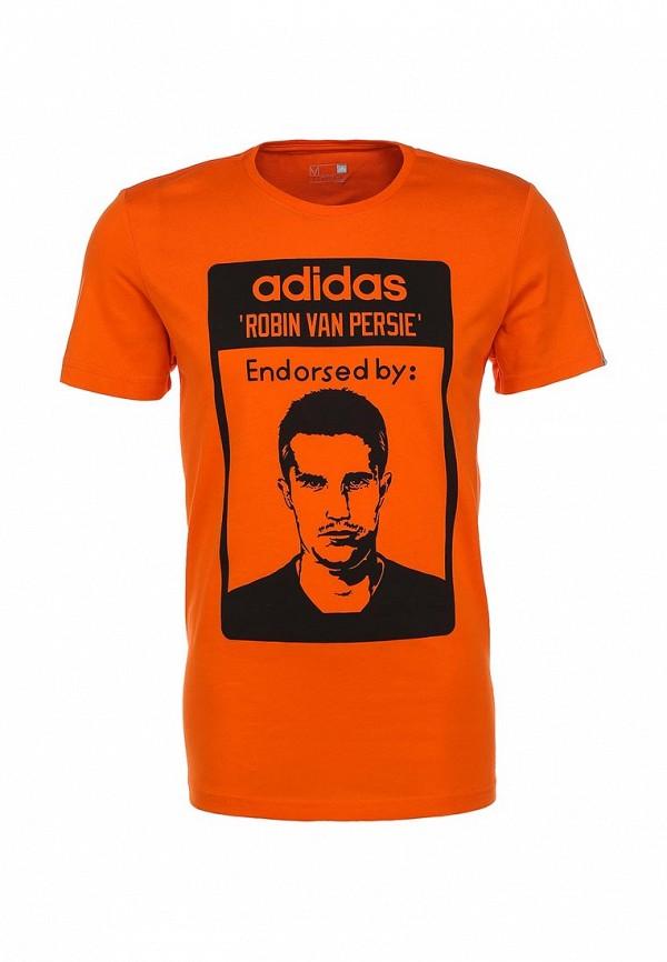 Футболка с надписями Adidas Performance (Адидас Перфоманс) S21509: изображение 1