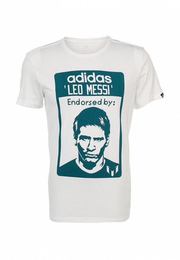 Футболка с надписями Adidas Performance (Адидас Перфоманс) S21510: изображение 1