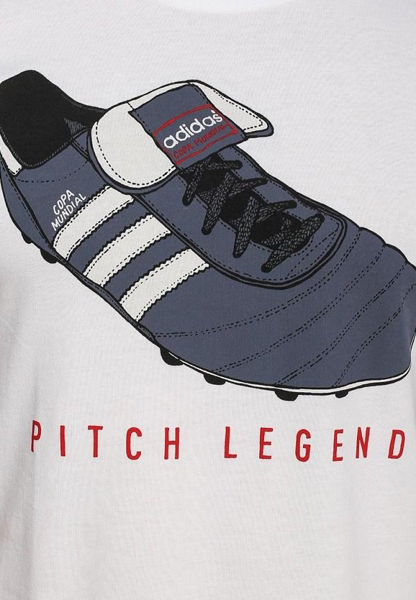Футболка с надписями Adidas Performance (Адидас Перфоманс) S21541: изображение 2