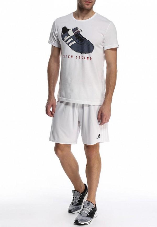 Футболка с надписями Adidas Performance (Адидас Перфоманс) S21541: изображение 3