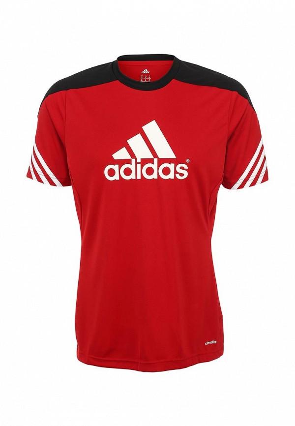 Футболка с надписями Adidas Performance (Адидас Перфоманс) D82940: изображение 2