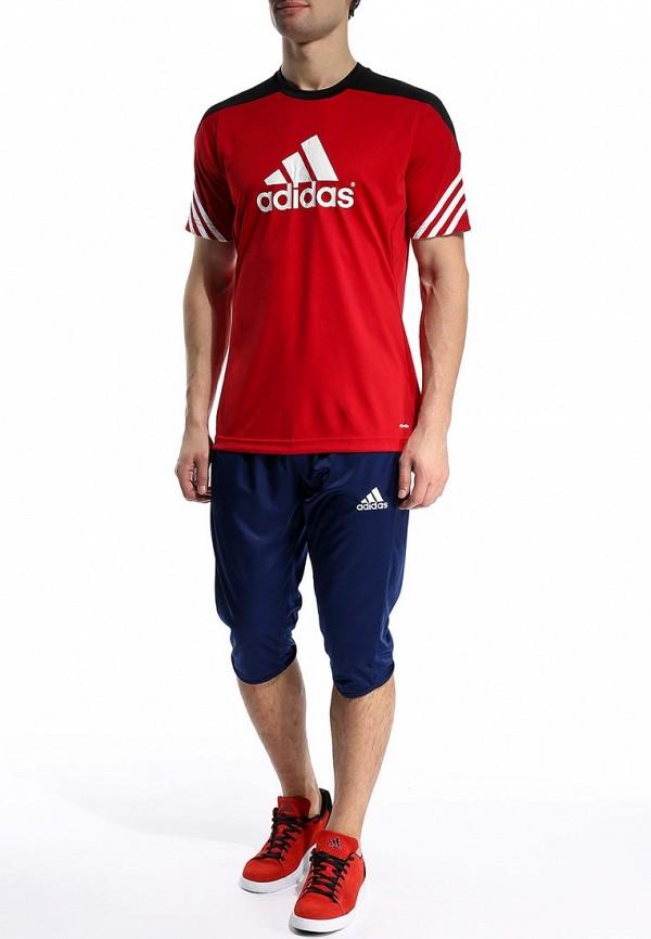 Футболка с надписями Adidas Performance (Адидас Перфоманс) D82940: изображение 4