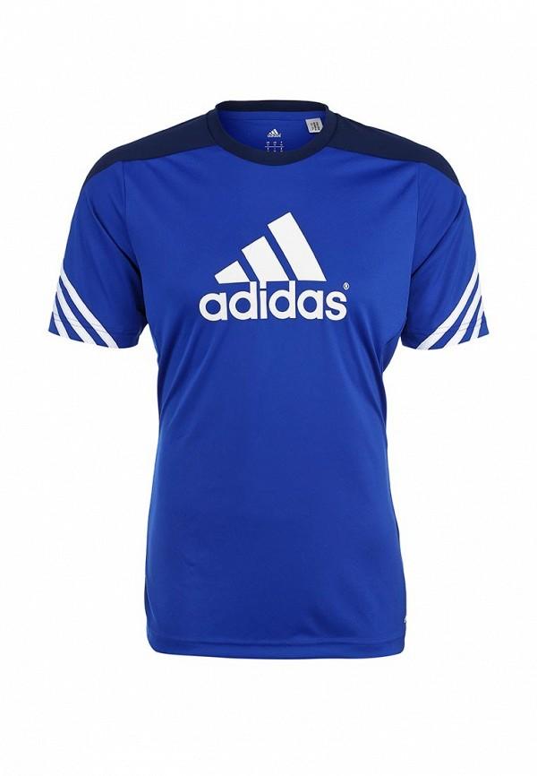 Футболка с надписями Adidas Performance (Адидас Перфоманс) F49699: изображение 1