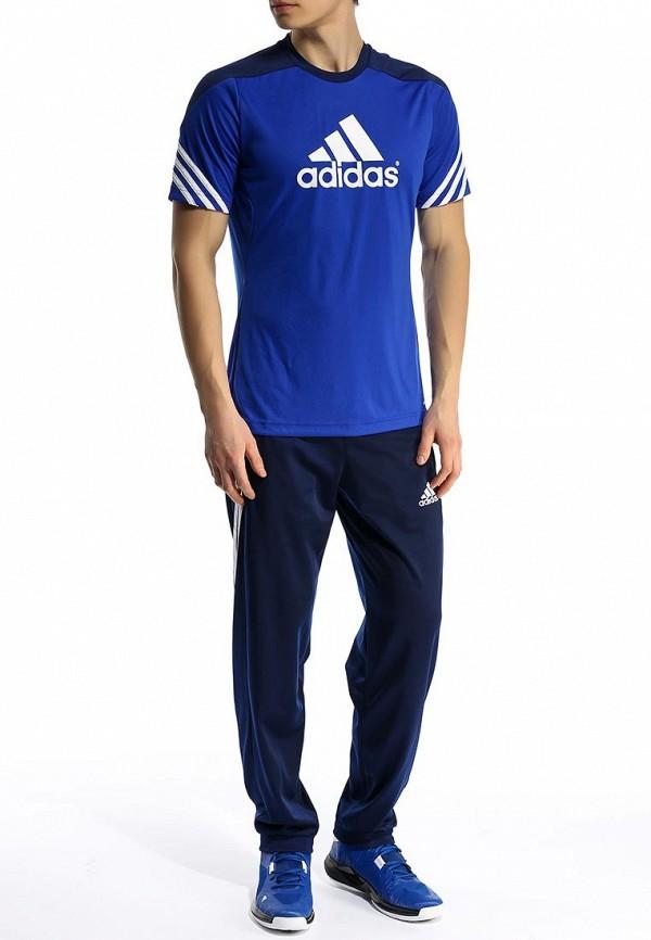 Футболка с надписями Adidas Performance (Адидас Перфоманс) F49699: изображение 4