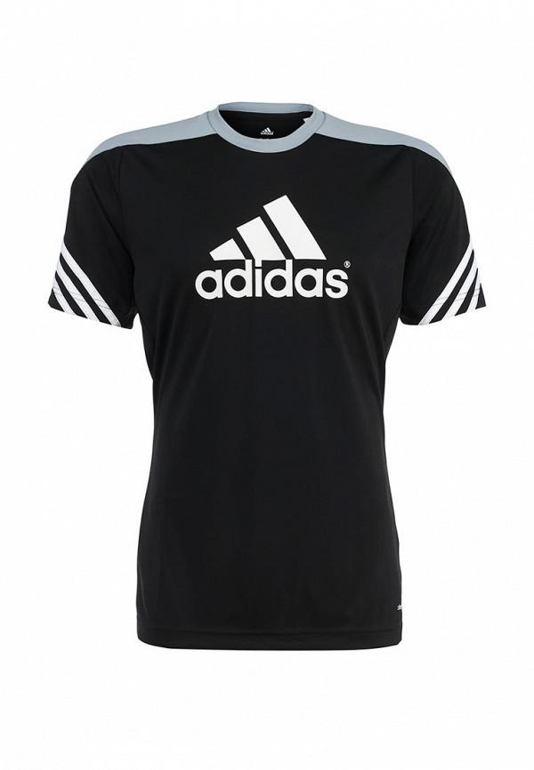 Футболка с надписями Adidas Performance (Адидас Перфоманс) F49700: изображение 2