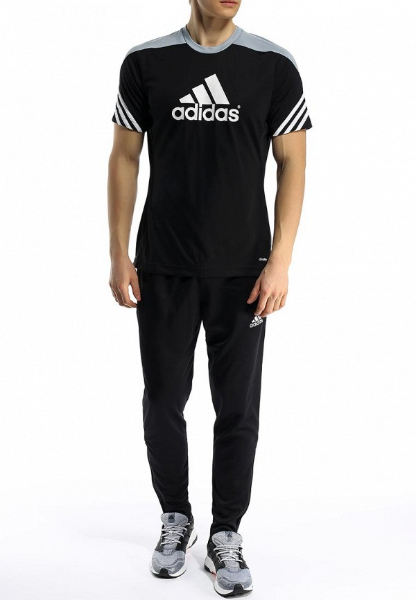 Футболка с надписями Adidas Performance (Адидас Перфоманс) F49700: изображение 4