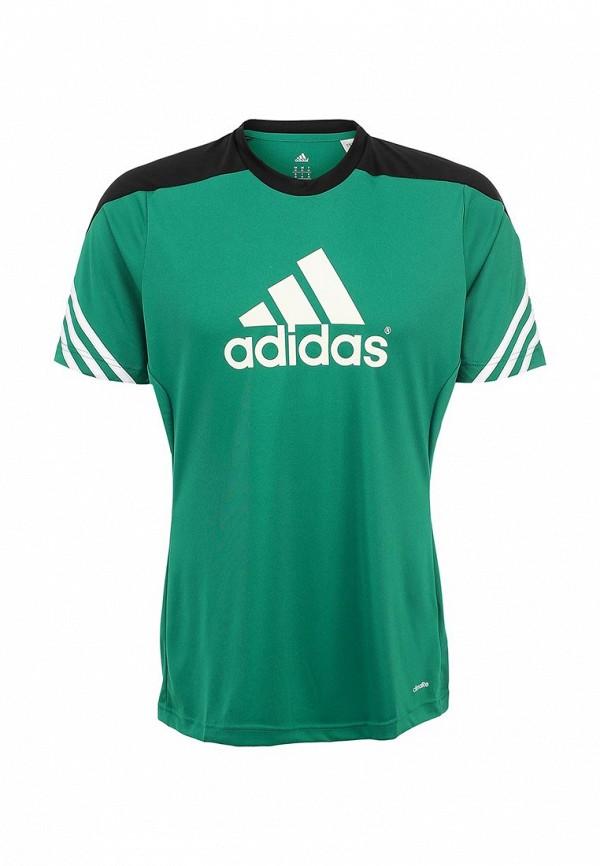 Футболка с надписями Adidas Performance (Адидас Перфоманс) F49702: изображение 1