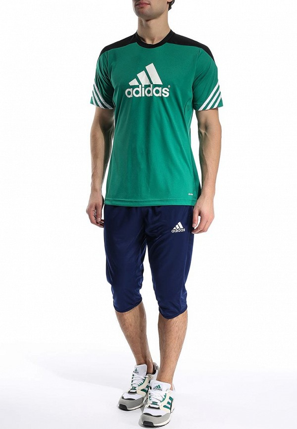 Футболка с надписями Adidas Performance (Адидас Перфоманс) F49702: изображение 4