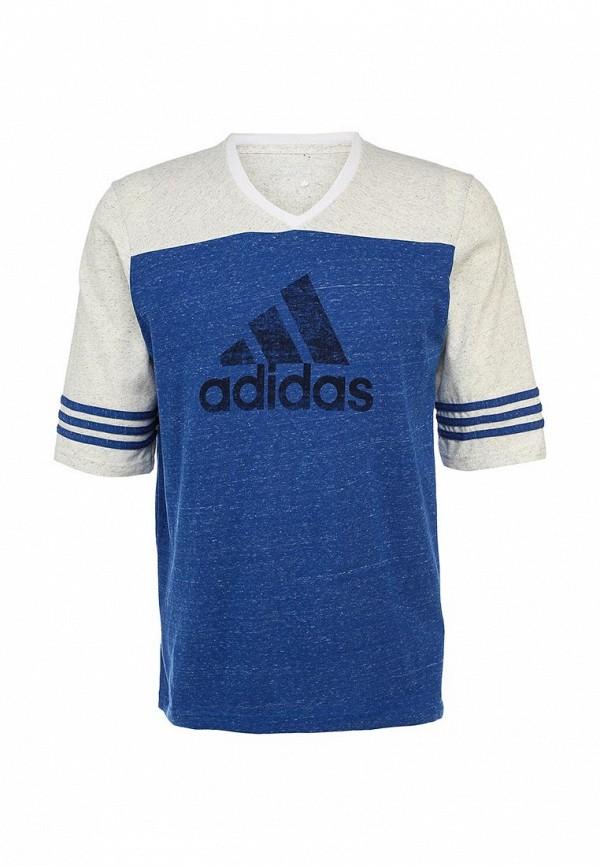 Футболка с надписями Adidas Performance (Адидас Перфоманс) S18007: изображение 1