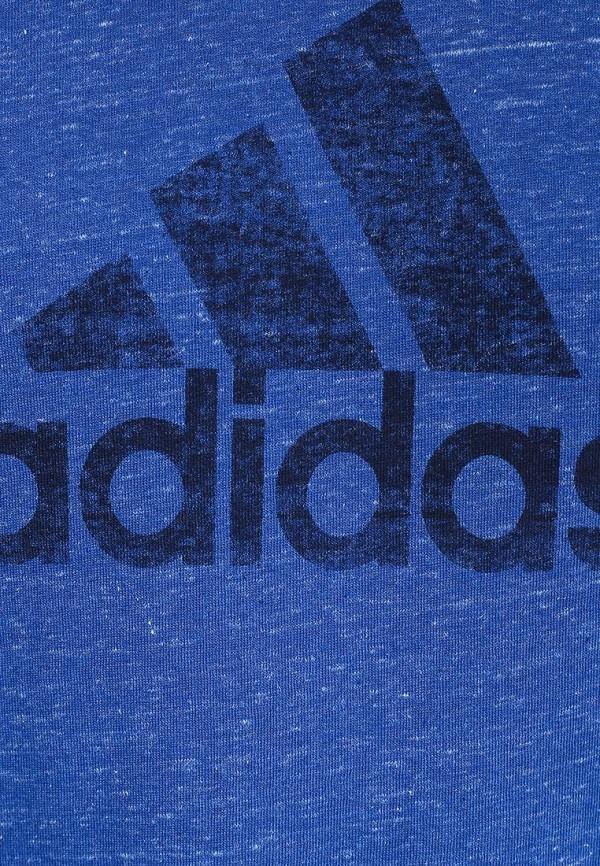 Футболка с надписями Adidas Performance (Адидас Перфоманс) S18007: изображение 2