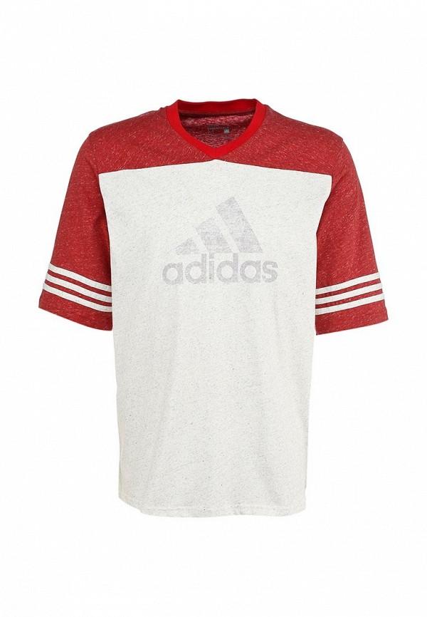 Футболка с надписями Adidas Performance (Адидас Перфоманс) S18008: изображение 1