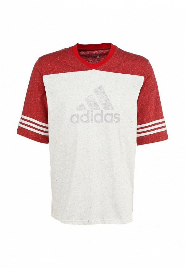 Футболка с надписями Adidas Performance (Адидас Перфоманс) S18008: изображение 2