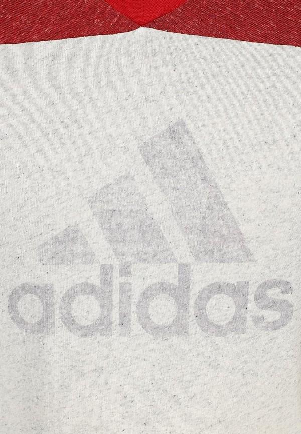 Футболка с надписями Adidas Performance (Адидас Перфоманс) S18008: изображение 3