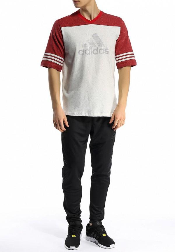 Футболка с надписями Adidas Performance (Адидас Перфоманс) S18008: изображение 4