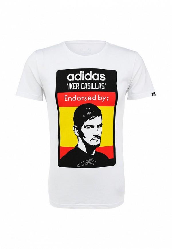 Футболка с надписями Adidas Performance (Адидас Перфоманс) AA4005: изображение 1