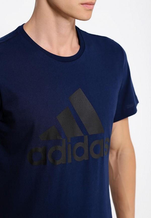 Футболка с надписями Adidas Performance (Адидас Перфоманс) AB6562: изображение 2