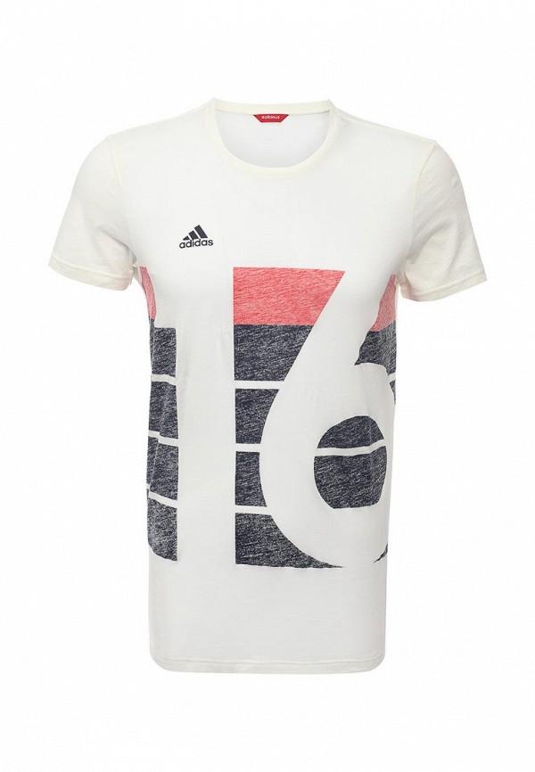 Футболка с надписями Adidas Performance (Адидас Перфоманс) AI4537: изображение 1