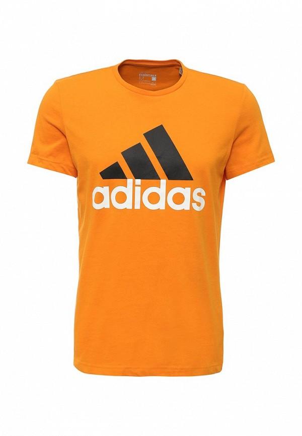Футболка с надписями Adidas Performance (Адидас Перфоманс) AK1795: изображение 1