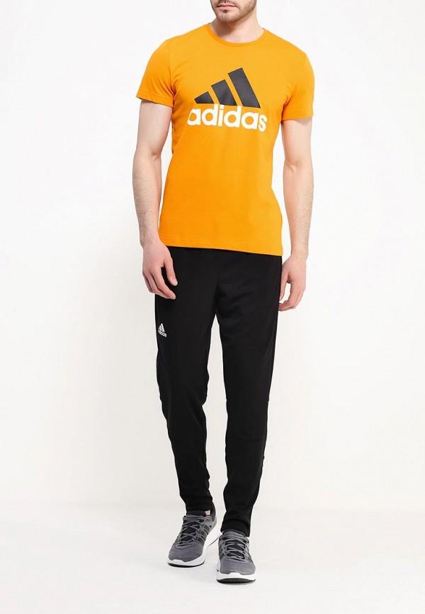 Футболка с надписями Adidas Performance (Адидас Перфоманс) AK1795: изображение 2