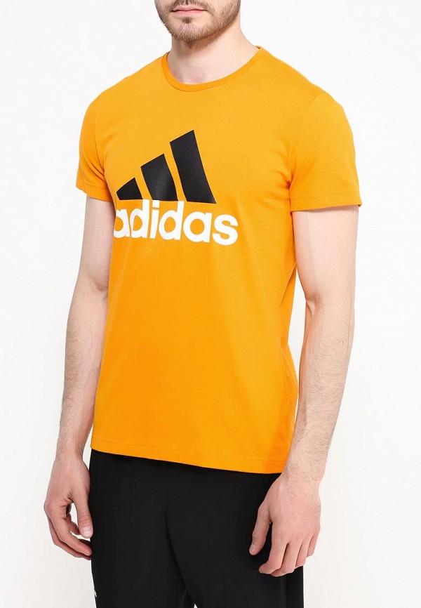 Футболка с надписями Adidas Performance (Адидас Перфоманс) AK1795: изображение 3
