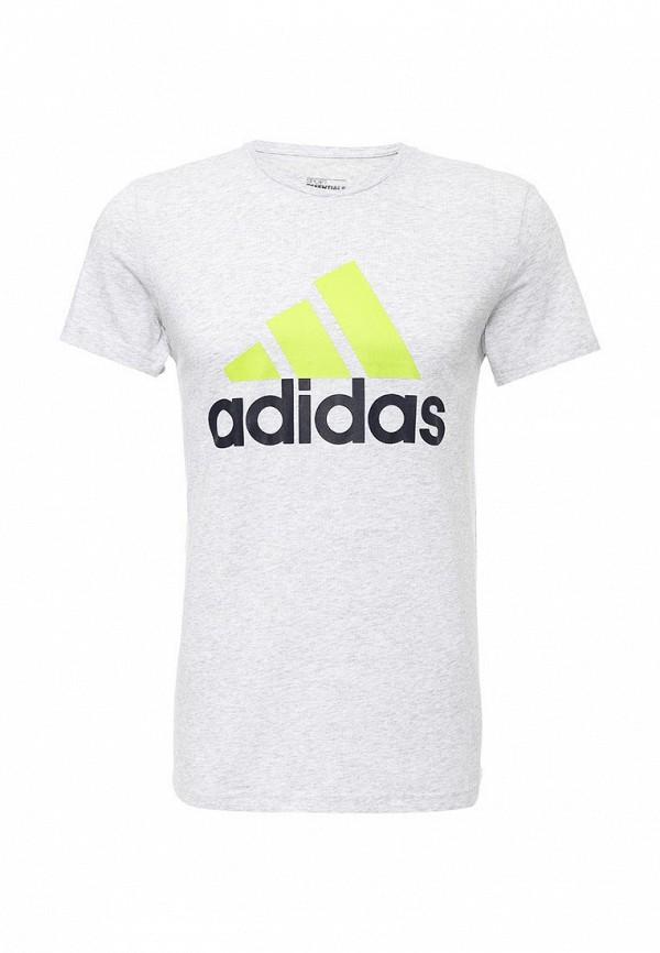 Футболка с надписями Adidas Performance (Адидас Перфоманс) AK1799: изображение 1