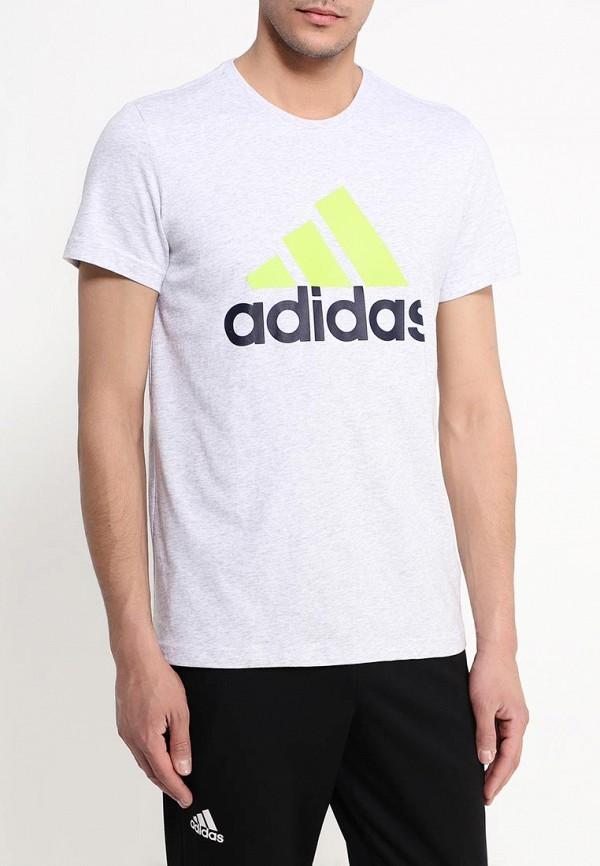 Футболка с надписями Adidas Performance (Адидас Перфоманс) AK1799: изображение 3