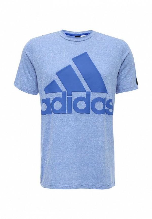 Футболка с надписями Adidas Performance (Адидас Перфоманс) AY1678: изображение 1