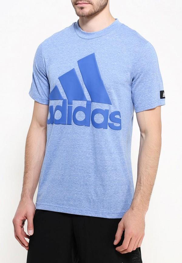 Футболка с надписями Adidas Performance (Адидас Перфоманс) AY1678: изображение 4