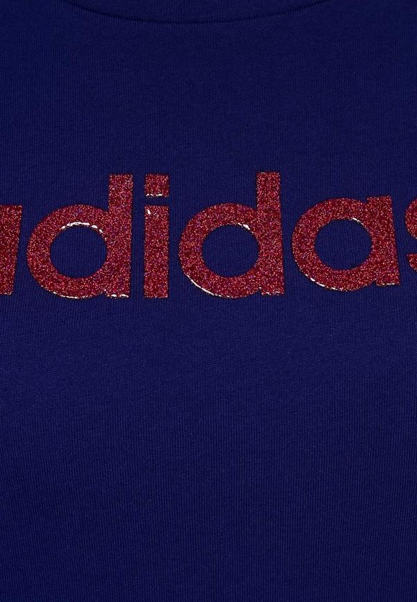 Футболка с надписями Adidas Performance (Адидас Перфоманс) M68086: изображение 2