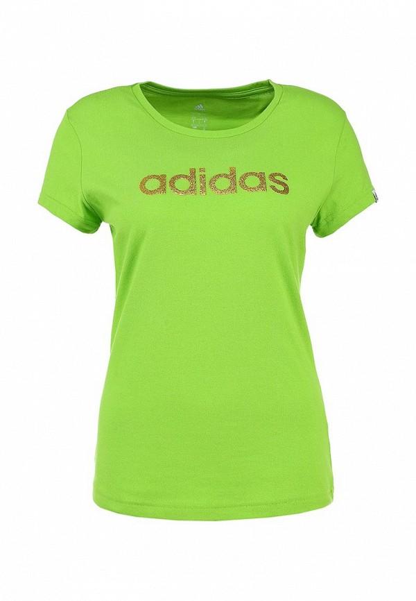 Футболка с надписями Adidas Performance (Адидас Перфоманс) M35511: изображение 1