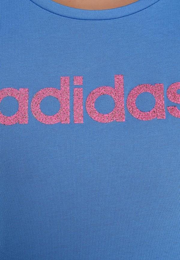 Футболка с надписями Adidas Performance (Адидас Перфоманс) S17244: изображение 3