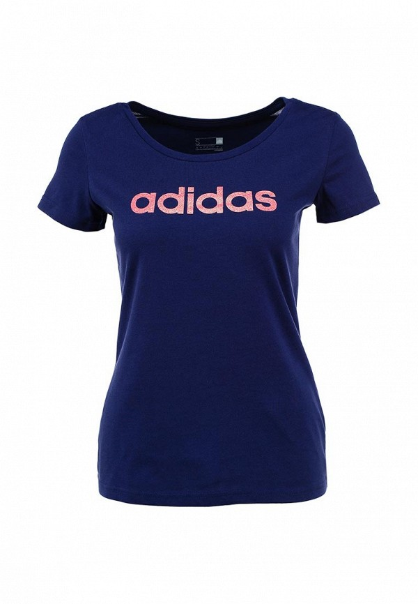 Футболка с надписями Adidas Performance (Адидас Перфоманс) AA6146: изображение 1