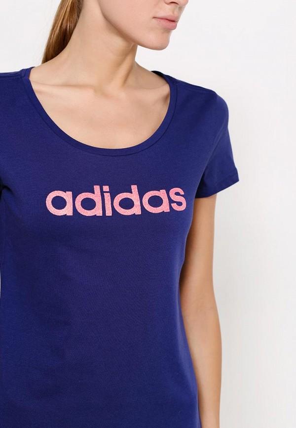 Футболка с надписями Adidas Performance (Адидас Перфоманс) AA6146: изображение 2