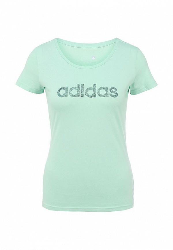 Футболка с надписями Adidas Performance (Адидас Перфоманс) AA6147: изображение 1