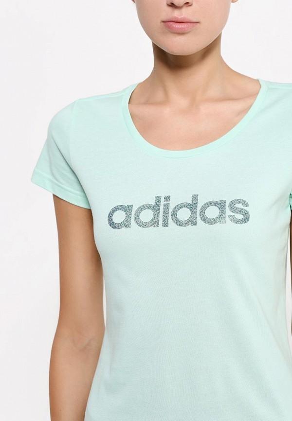 Футболка с надписями Adidas Performance (Адидас Перфоманс) AA6147: изображение 2