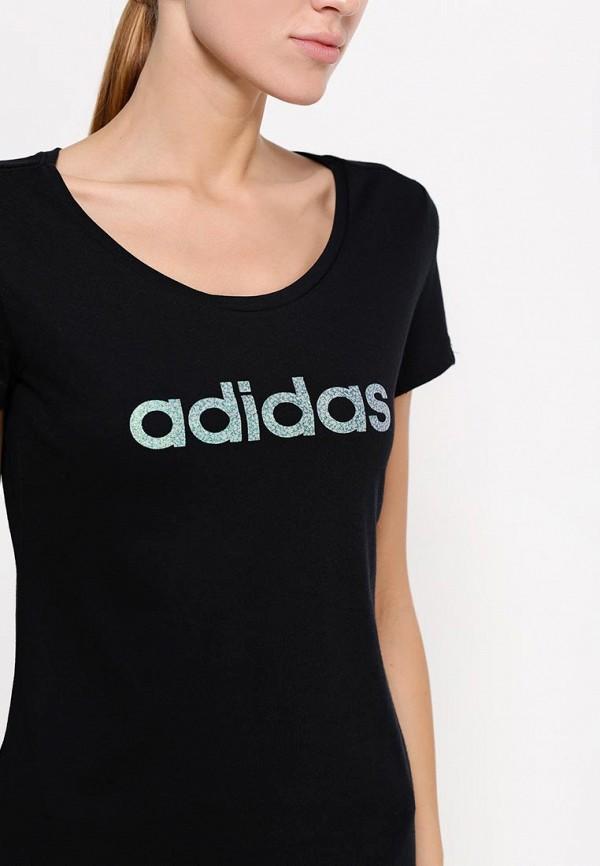 Футболка с надписями Adidas Performance (Адидас Перфоманс) AA6148: изображение 2