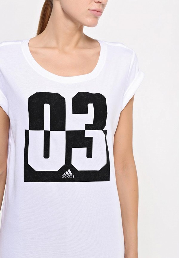 Футболка с надписями Adidas Performance (Адидас Перфоманс) AA6150: изображение 2