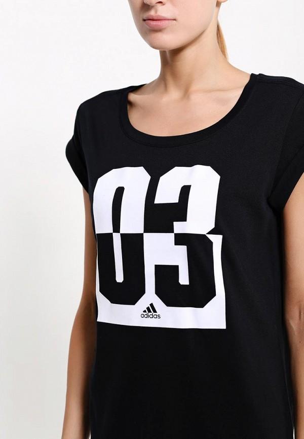 Футболка с надписями Adidas Performance (Адидас Перфоманс) AA6151: изображение 2