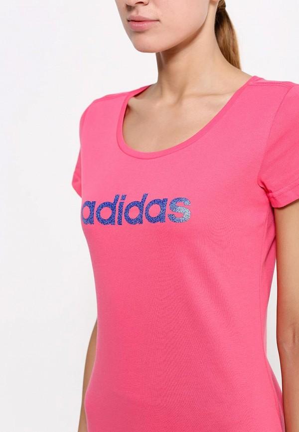 Футболка с надписями Adidas Performance (Адидас Перфоманс) AC3269: изображение 2