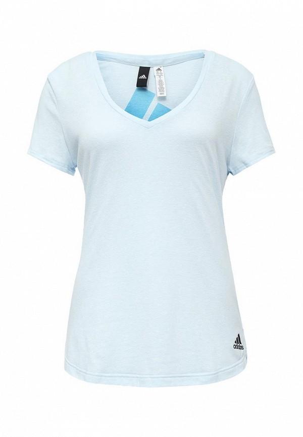 Футболка с надписями Adidas Performance (Адидас Перфоманс) AY0177