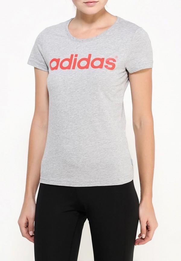 Футболка с надписями Adidas Performance (Адидас Перфоманс) AK1171: изображение 3