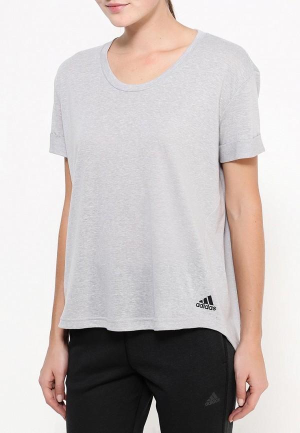 Спортивная футболка Adidas Performance (Адидас Перфоманс) AY0184: изображение 5