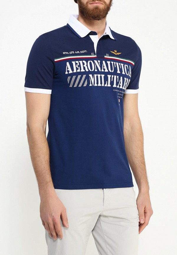 Мужские поло Aeronautica Militare 161PO1068P118: изображение 3