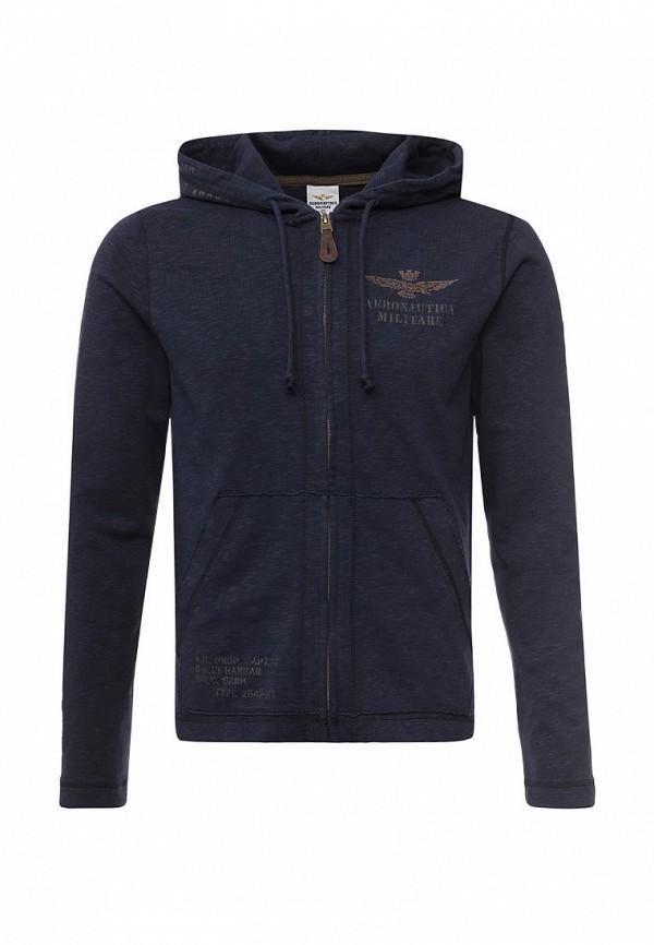 Купить мужскую толстовку Aeronautica Militare синего цвета