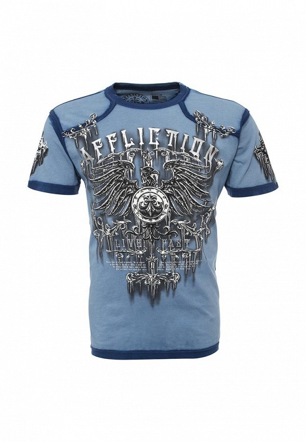 Футболка Affliction SECURE S/S CREW W/TAPING TEE