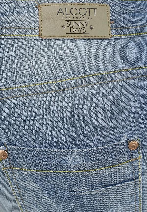 Зауженные джинсы Alcott 5T2132DOL C293 AZZURRE: изображение 3