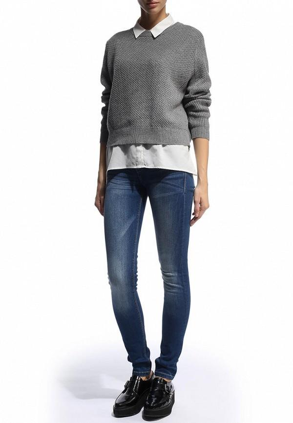 Зауженные джинсы Alcott 5T2289DW040 C241 BLUE: изображение 3