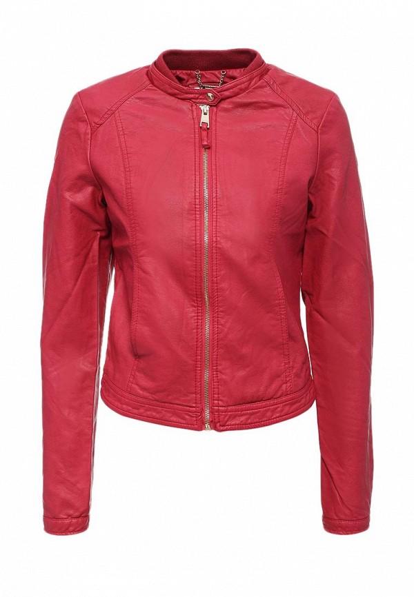 Куртка кожаная Alcott. Цвет: фуксия
