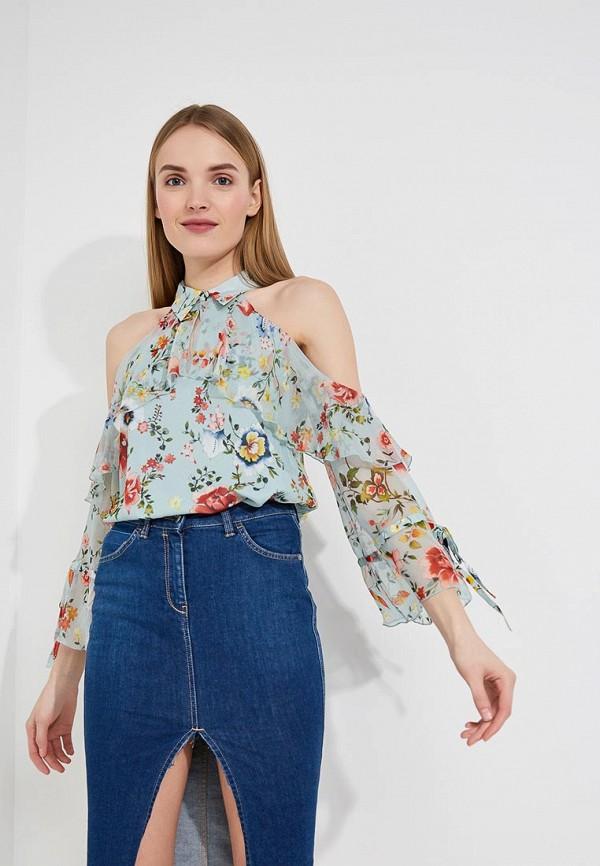Купить Блуза Alice + Olivia, Alice + Olivia AL054EWAEQK0, бирюзовый, Весна-лето 2018